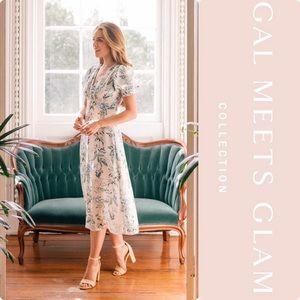 Gal Meets Glam Lauren Botanical Garden Midi Dress